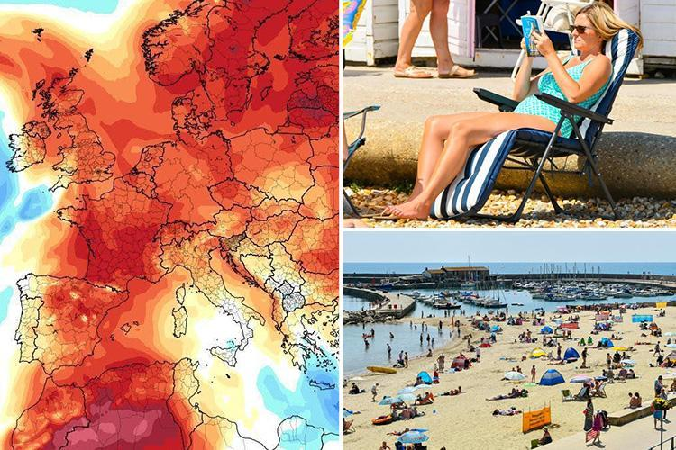 Britain to swelter in 35C temperatures next week as bookies slash odds on UK's hottest day EVER