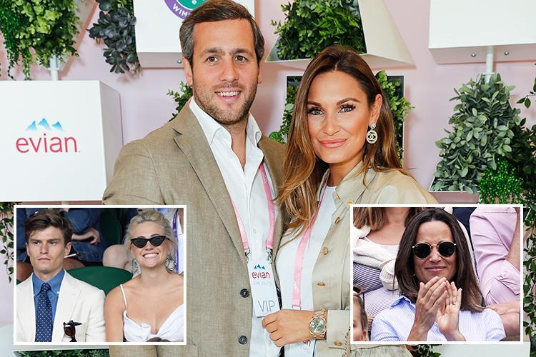 Sam Faiers and boyfriend Paul Knightley wear matching outfits for romantic day out at Wimbledon