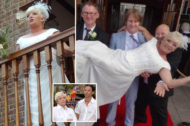 Benidorm's Crissy Rock says it's 'incredible to find love again' with husband Julian Buck after movie themed wedding