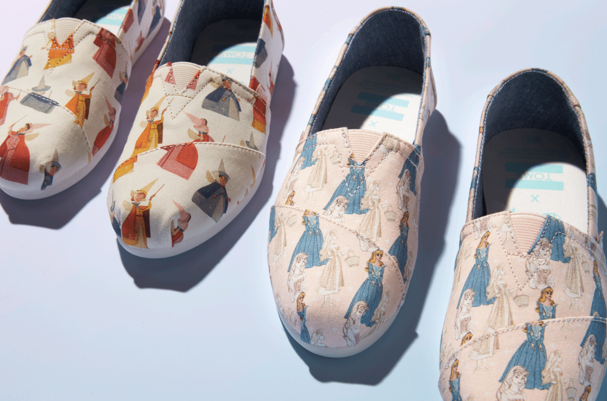 The Disney x TOMS Sleeping Beauty Collection Will Make Your Most Magical Dreams Come True