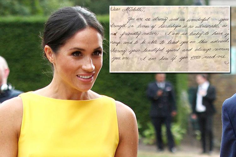 Meghan Markle's former headteacher reveals incredible note Duchess wrote to help 'very shy' school pal