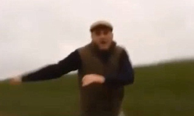 Dramatic moment hunt supporter smashes up car filled with saboteurs