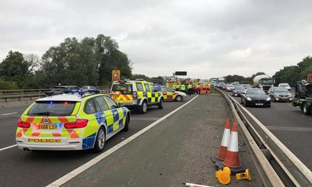 M6 closed in both directions follow crash between junction 18 and 19