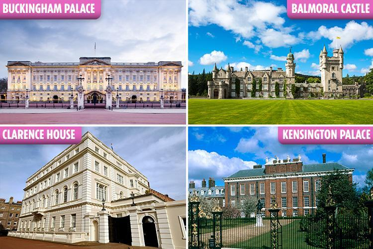 Inside Royal Family's sprawling castles and lavish homes that are worth £13BILLION