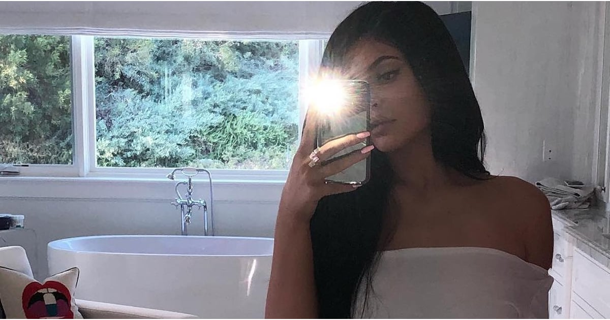 We're Surprised That Kylie Jenner's High-Leg Bikini Bottoms Didn't Fog Up Her Bathroom Mirror