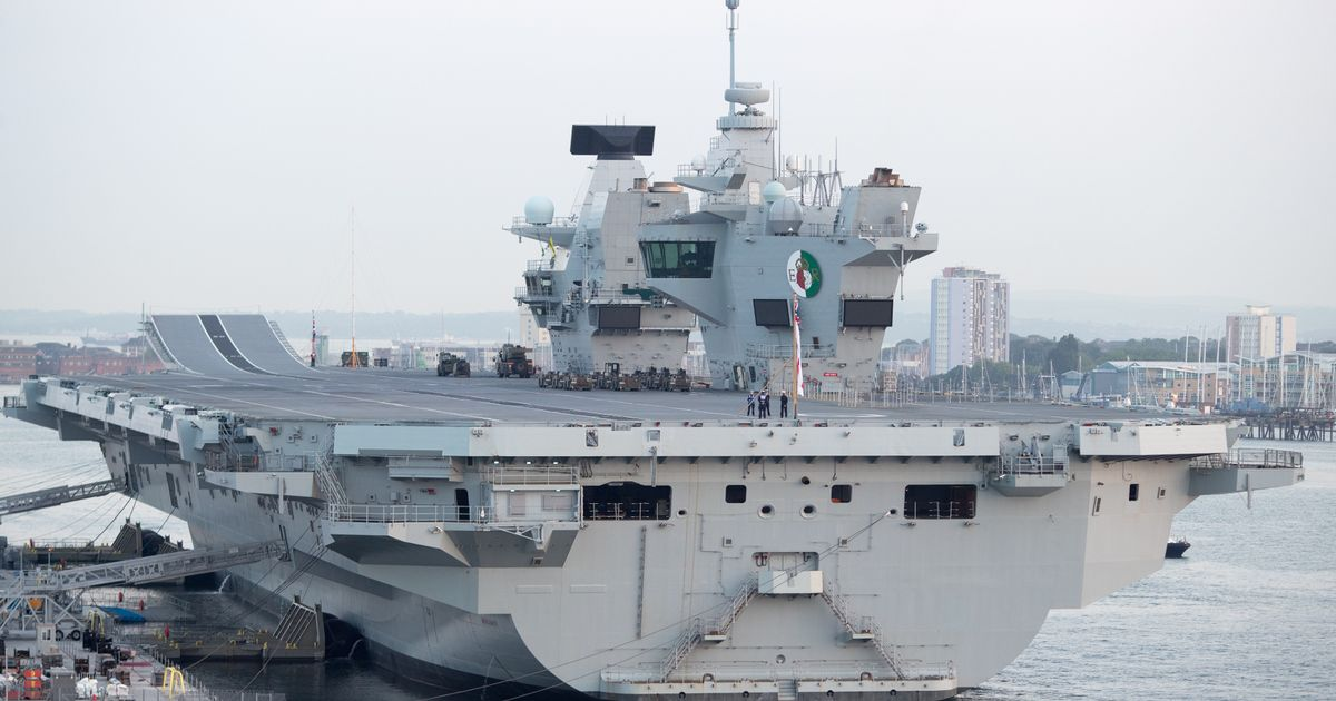 Britain's largest-ever warship has traditional pub installed
