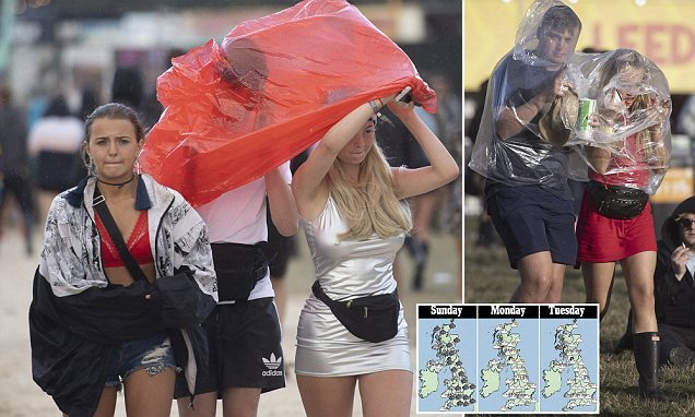 Rain washes out Bank Holiday weekend but there's hope of sun on Monday