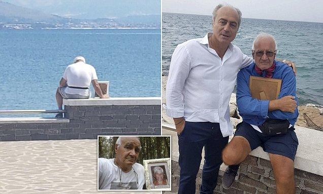 Man, 70, takes photo of dead wife to beach each day 'not to be alone'