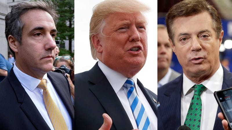 Dramatic day for the Trump presidency as Cohen and Manafort both guilty