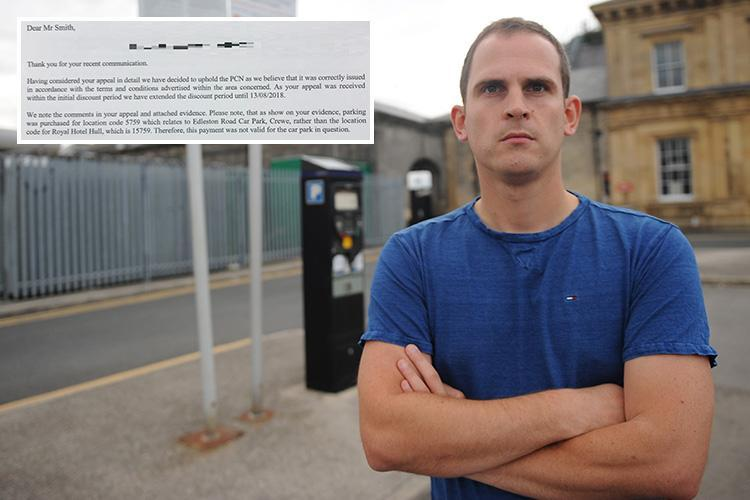 Dad slapped with 'ridiculous' £60 fine for parking in Crewe – when his car was 140 miles away in Hull