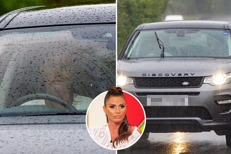 Skint Katie Price drives new £52,000 Land Rover Discovery as she gets back behind the wheel after driving ban