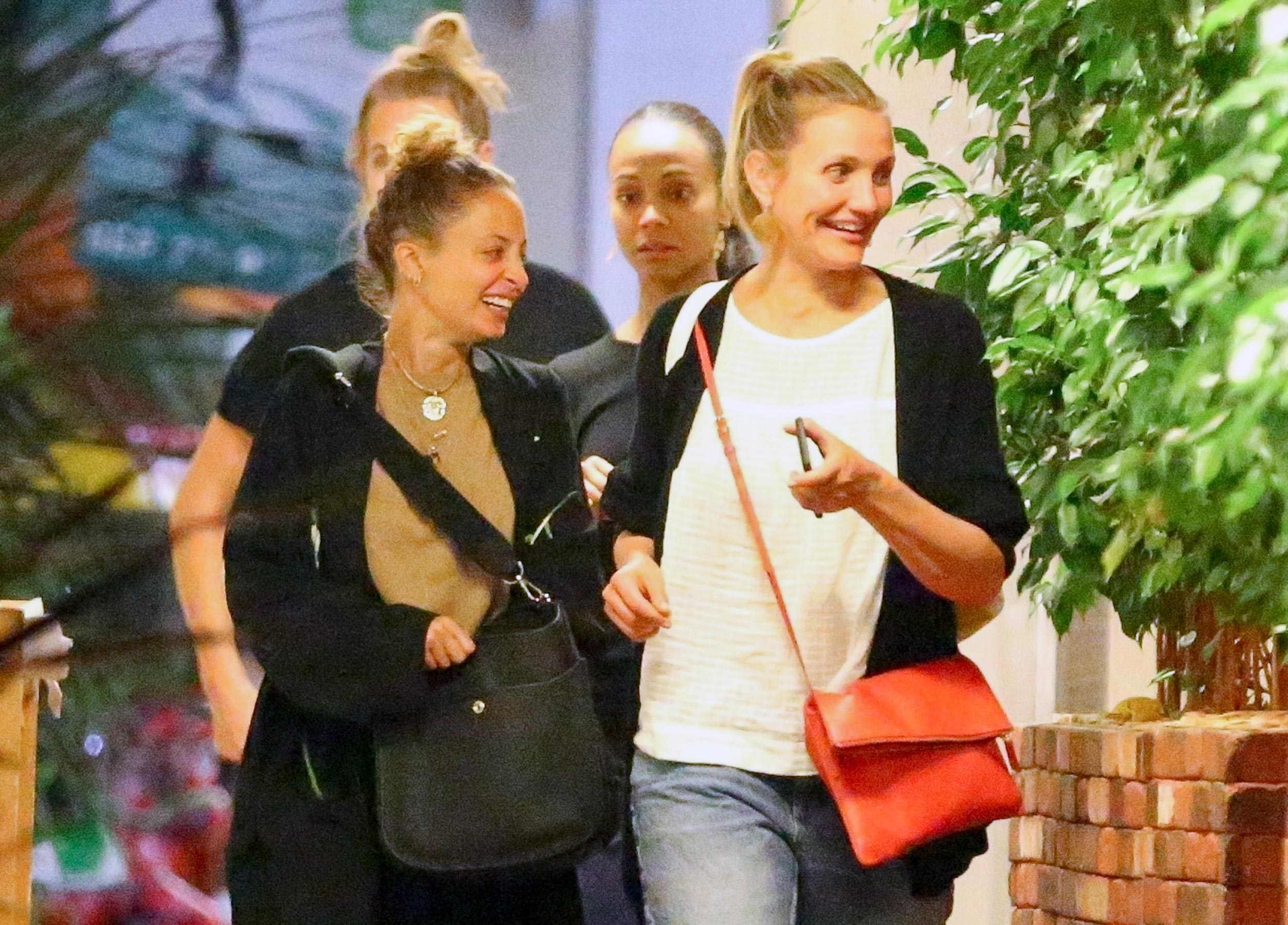 Cameron Diaz Grabs Early Birthday Dinner with Sister-in-Law Nicole Richie and Zoe Saldana