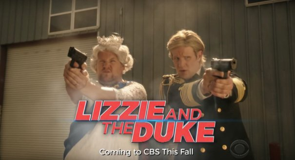 James Corden & Matt Smith Crowned As Parody Crimebusters 'Lizzie & The Duke'