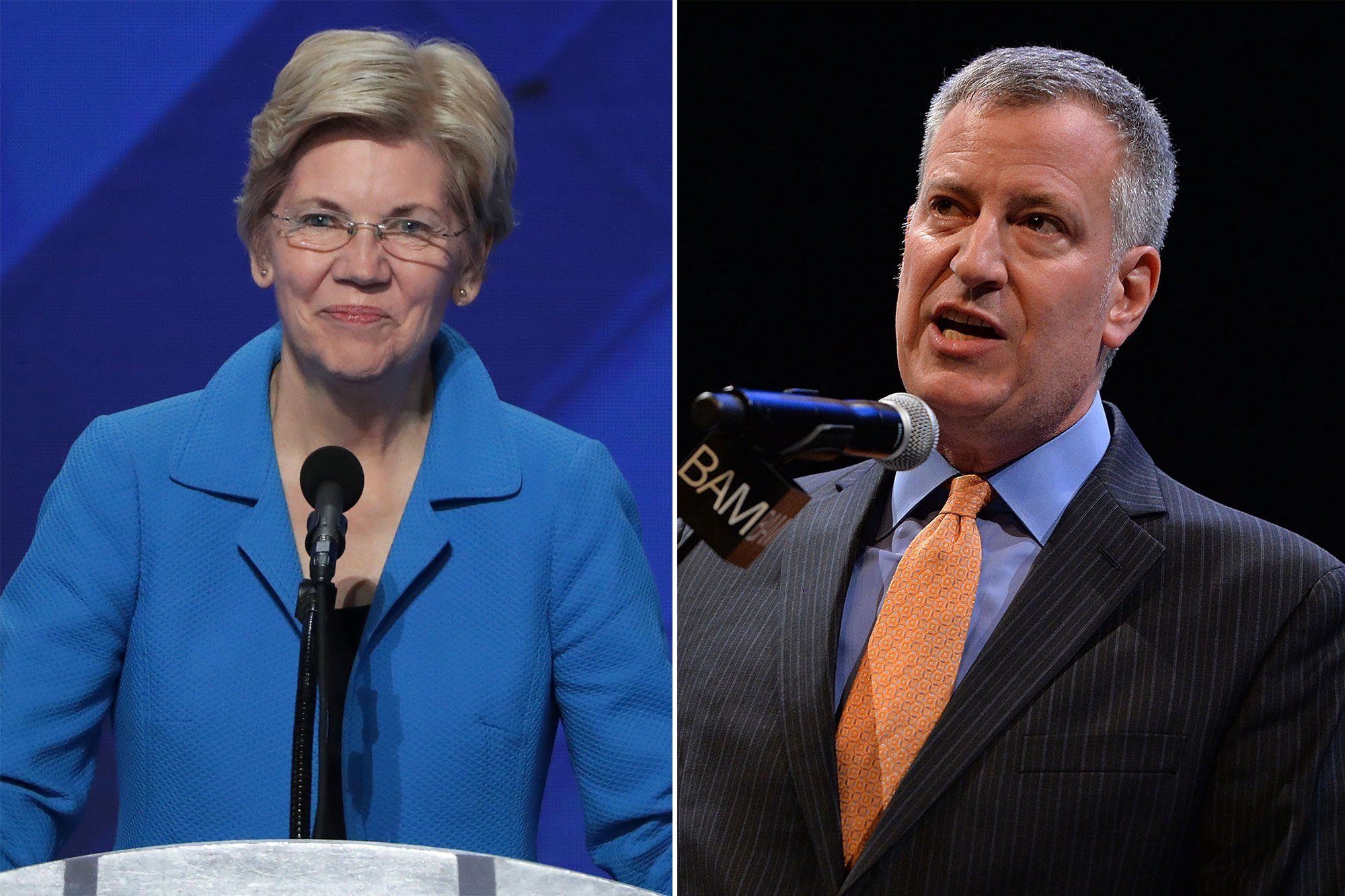 Elizabeth Warren meets with de Blasio at City Hall