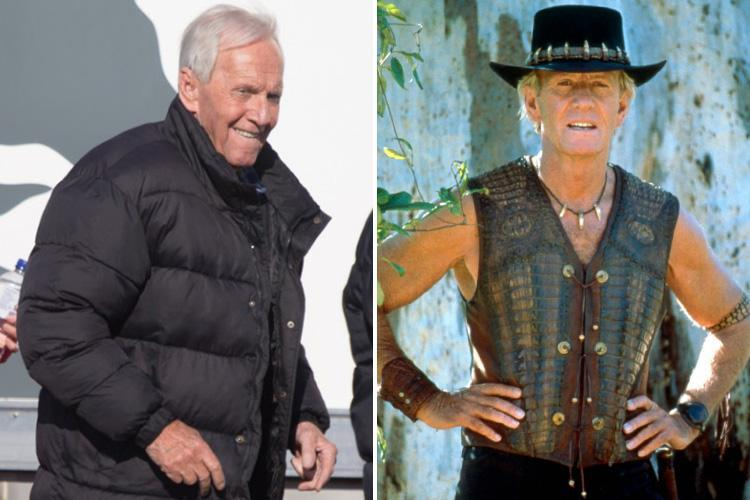 Paul Hogan, 78, takes break from filming Crocodile Dundee sequel in Australia more than 32 years after the first film release