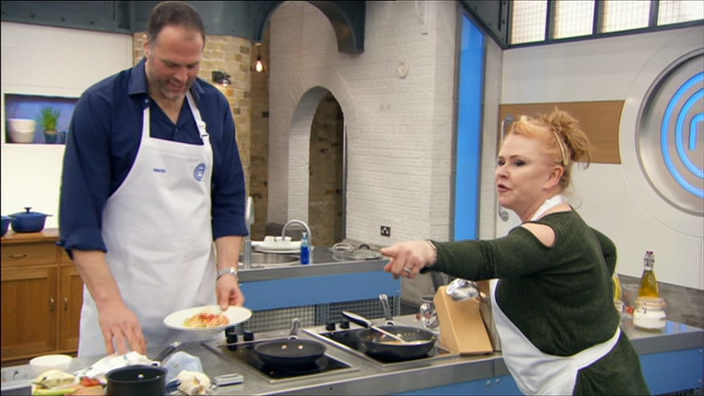 Celebrity MasterChef fans outraged over Carol Decker's 'sexist' comment after she calls chilli con carne 'man food' and prawn curry 'girly'