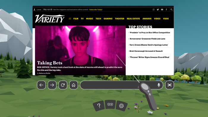 Mozilla Releases Firefox Reality VR Browser for Oculus Go, Daydream Headsets
