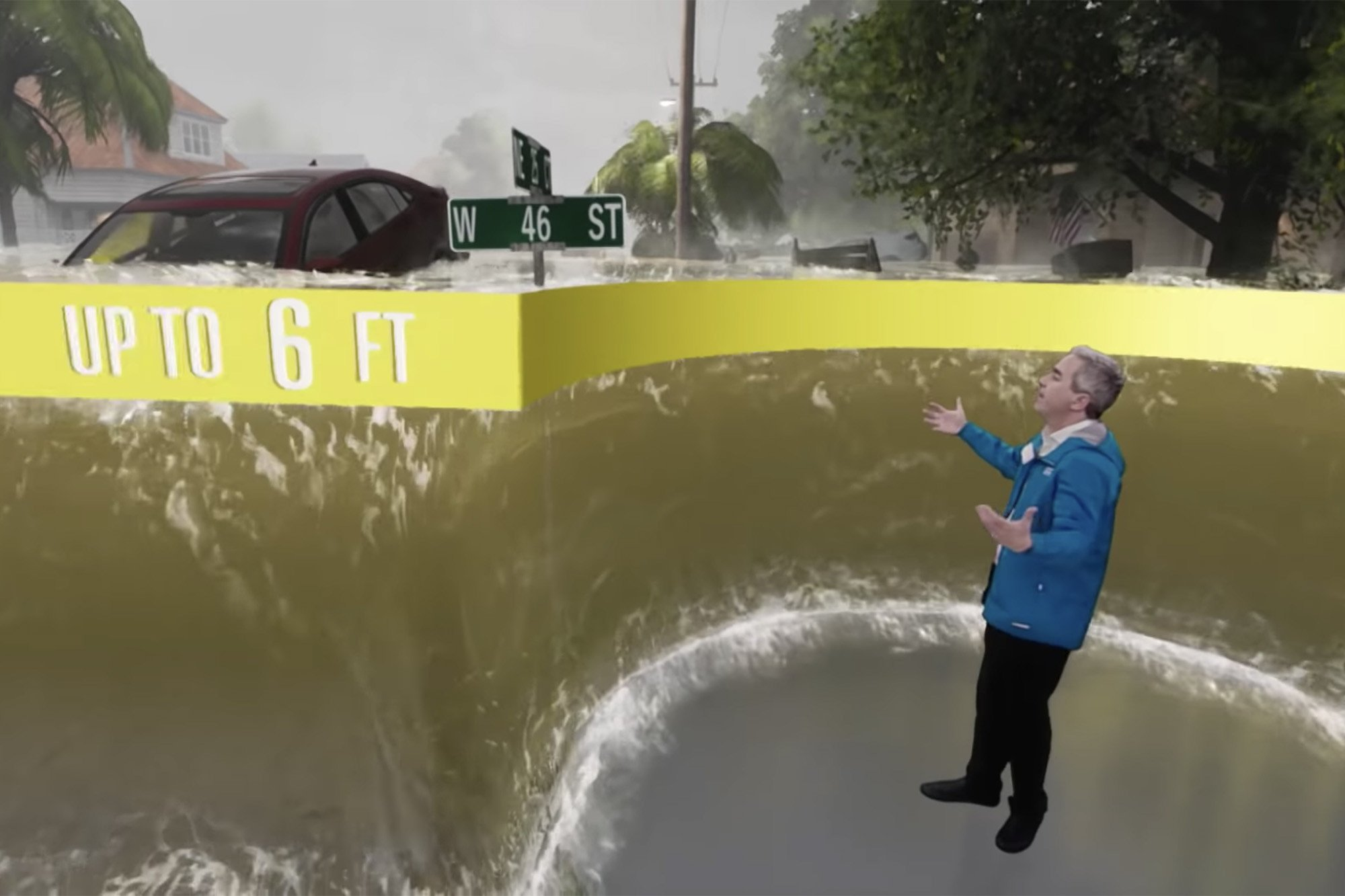 This terrifying augmented reality video shows inside a storm surge
