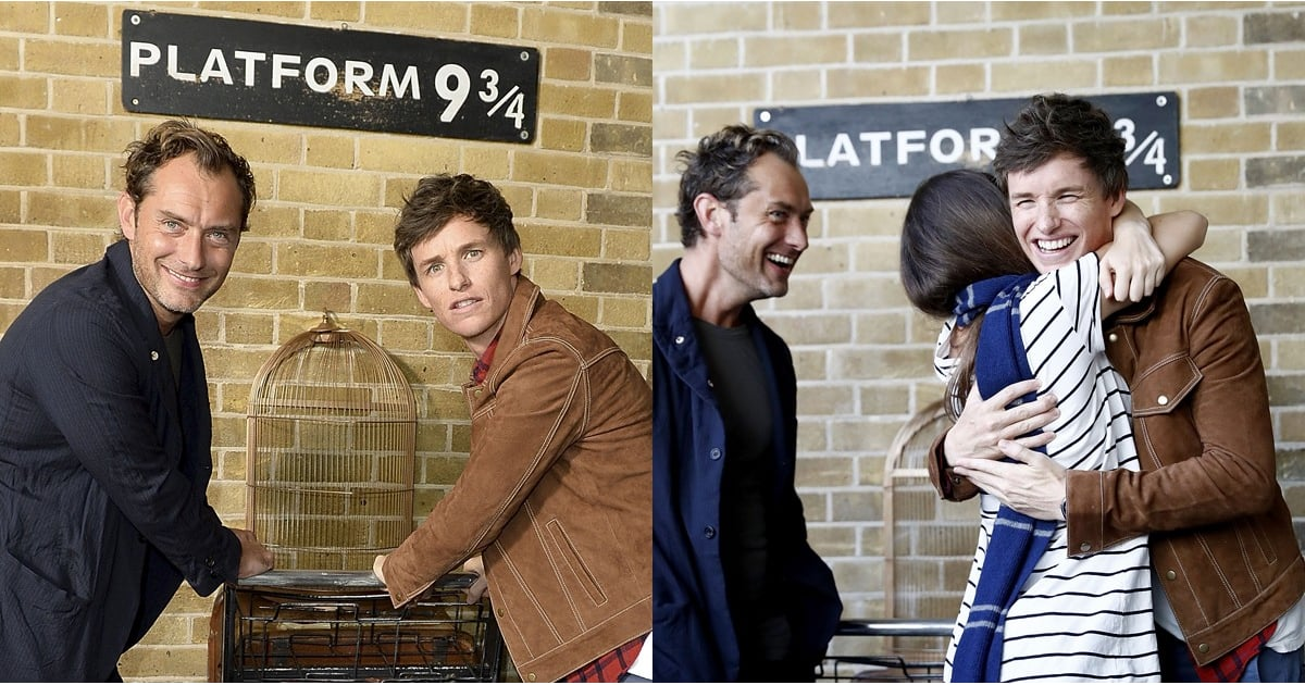 All Aboard! Jude Law and Eddie Redmayne Surprised Fans at King's Cross Station