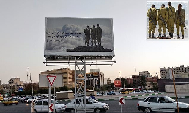Iran is mocked over billboard wrongly featuring Israeli soldiers