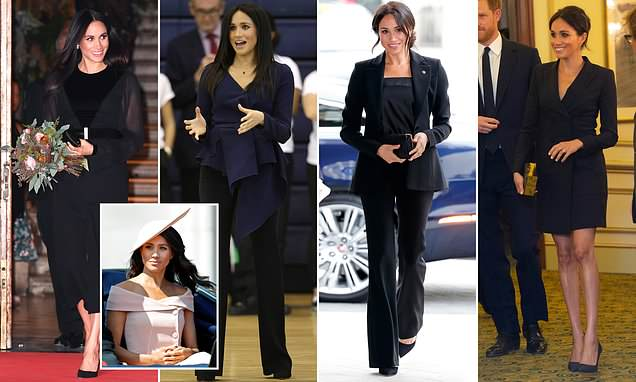 Why Meghan is turning to black as her go-to colour