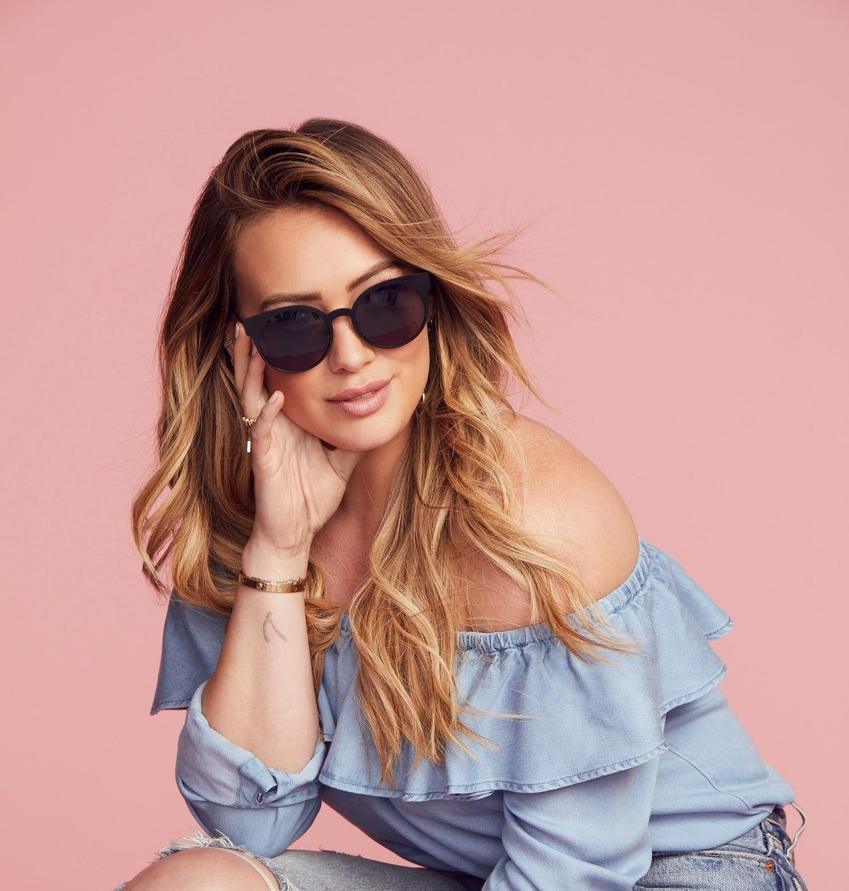 Hilary Duff Wears Glasses Instead Of Makeup & Scrubs Her Instagram Of Bad Vibes — EXCLUSIVE