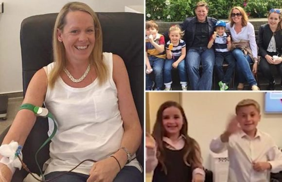 Heartbreaking footage of children waving goodbye is last thing cancer-stricken mum saw of kids before death