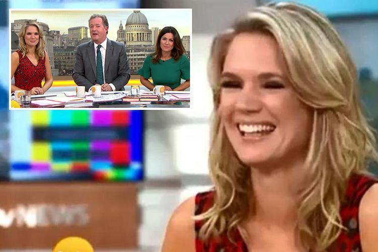 Charlotte Hawkins takes a hilarious swipe at Piers Morgan as she likens him to a 'yapping' budgerigar live on Good Morning Britain