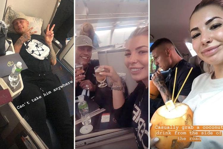 Olivia Buckland and Alex Bowen jet off for 5 star honeymoon in Sri Lanka and the Maldives after glitzy wedding as they share snaps from first class