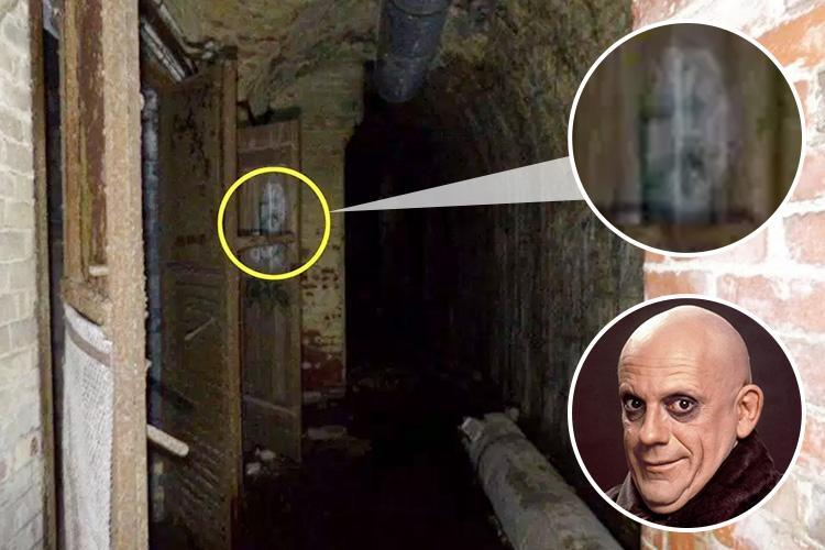 Daredevil explorer shocked as he photographs the 'ghost of UNCLE FESTER' in a Stockport bunker… but what do you reckon?