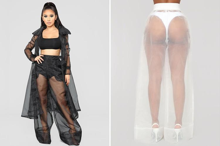 Fashion Nova is selling bizarre 'Nothing To Hide' trousers – and they're completely see-through