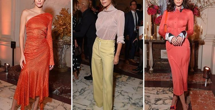 Victoria Beckham rocks yellow trousers as she joins Kendall Jenner and Bella Hadid for glitzy party at Paris Fashion Week