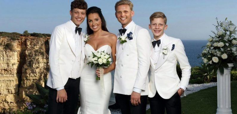 Jeff Brazier says new wife Kate Dwyer saved him and his two sons as he shows off beautiful pictures from their wedding day