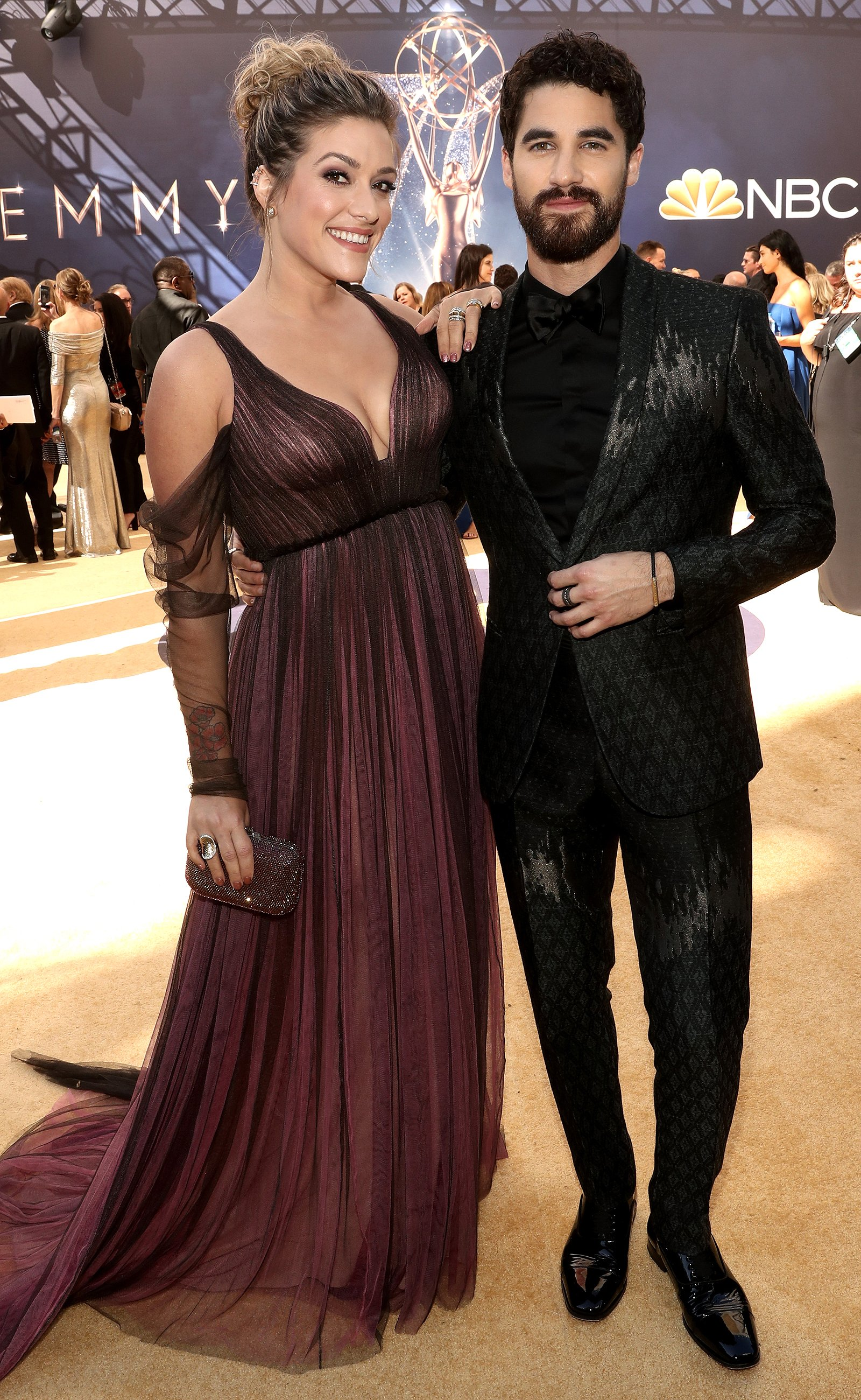 Darren Criss Gives Loving Shout-Out to His Fiancée as He Wins Emmy Award: 'You Pump the Music Up in My Life'