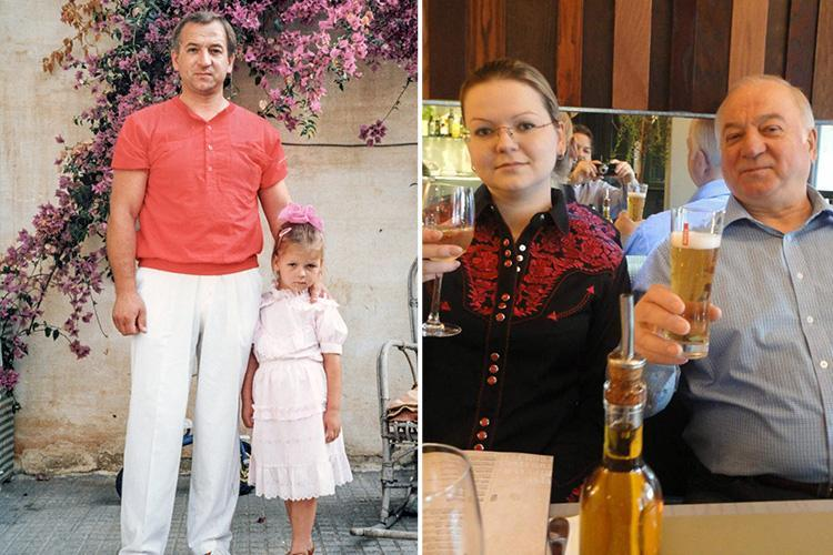 Pictures of former spy Sergei Skripal with his young daughter Yulia in 1980s emerge as pair recover from Salisbury Novichok attack