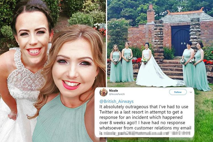 Bridesmaid slams 'diabolical' British Airways after she received her dress TWO HOURS before ceremony because airline refused to hand over her bags