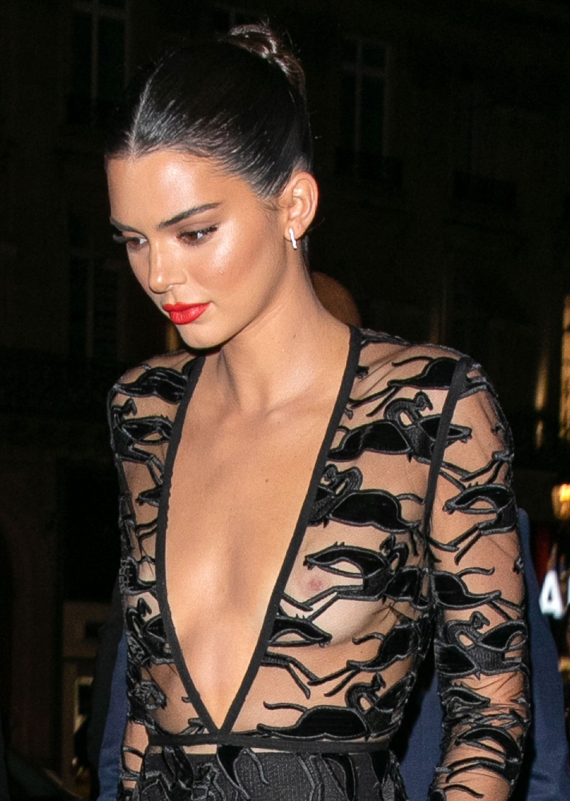 Kendall Jenner Freed Her Nipples in a Sheer Top at a Paris Party, Plus More of Her Braless Red Carpet Moments