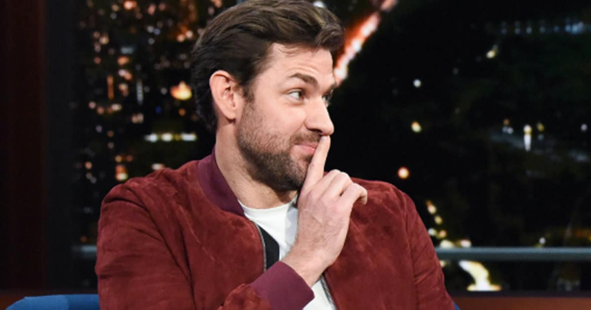 John Krasinski Proves He's Sexy Enough To Be An Action Hero In 'Late Show' Skit