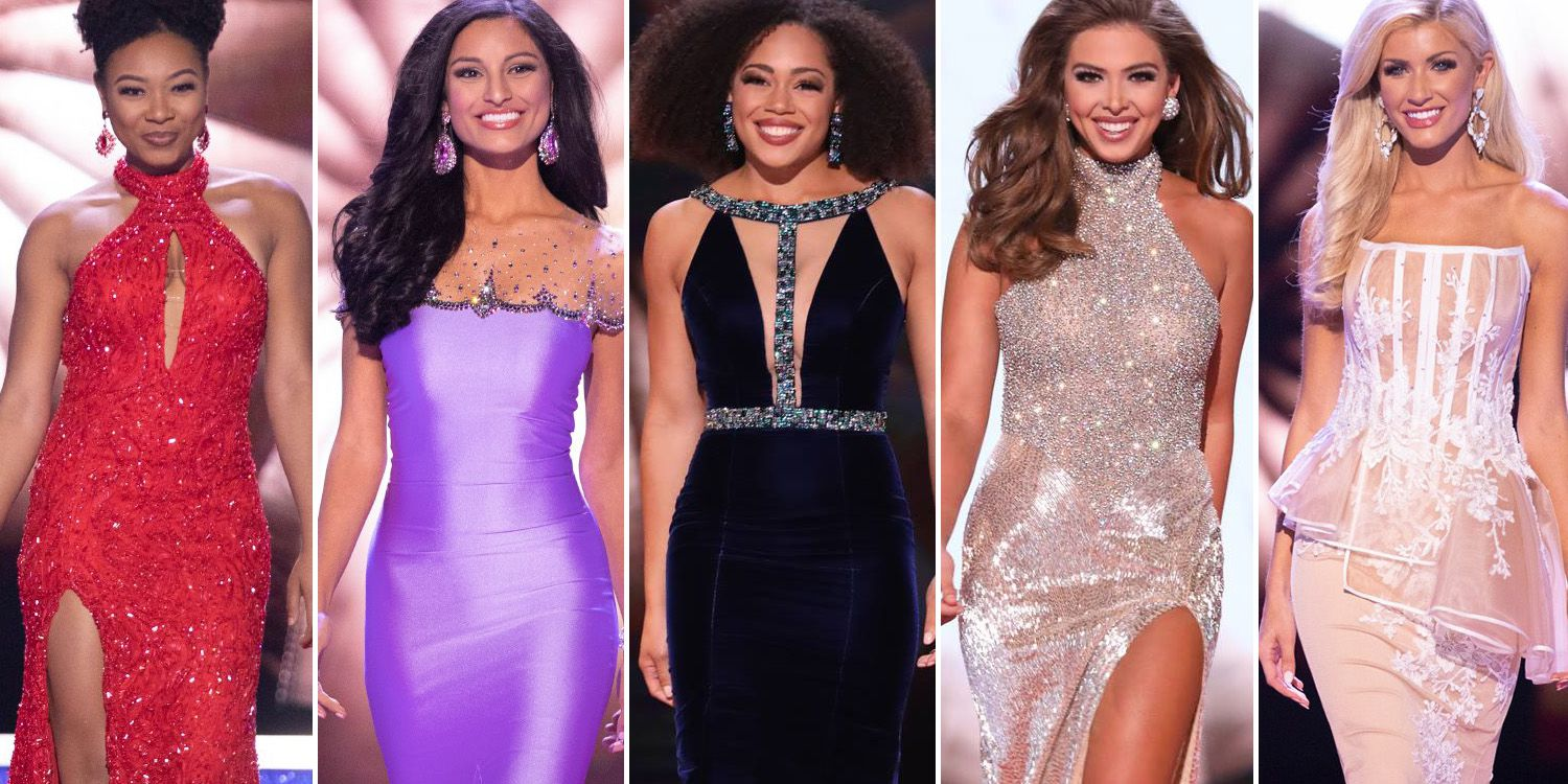 """See All 51 Miss America Contestants in Their """"Red Carpet Glamour"""" Evening Gowns"""