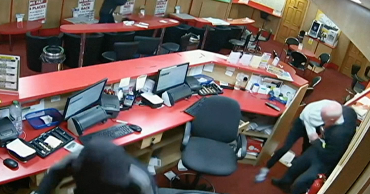 85-year-old man fights off three would-be robbers at betting shop
