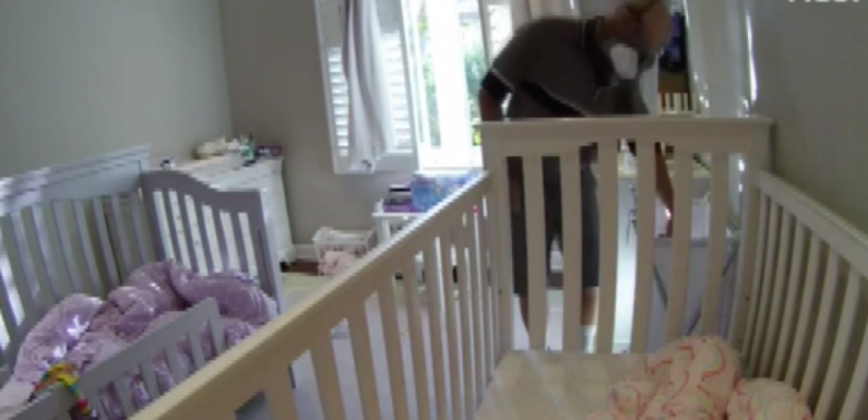 Nanny cam catches repairman appearing to sniff underwear in girls' bedroom