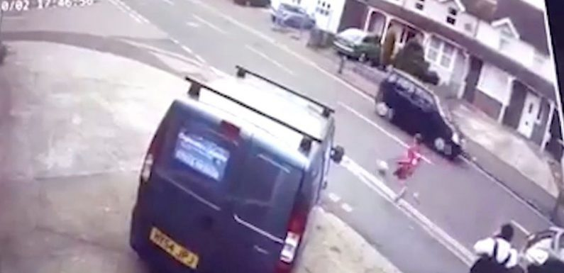Boy, 9, mown down chasing football into road – but miraculously survives unhurt