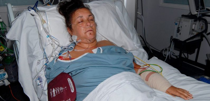 Pregnant mum who was stabbed eight times by ex speaks for first time
