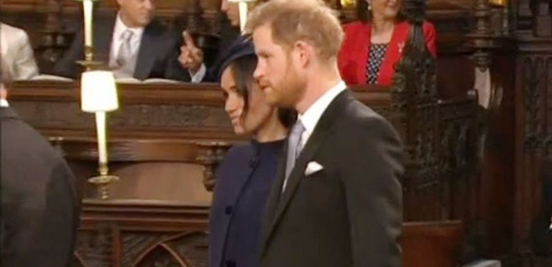 Meghan Markle and Kate arrive for Royal Wedding with Prince Harry and William