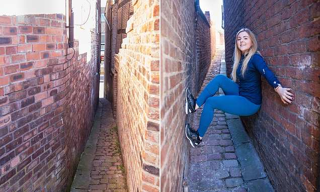 Britain's second narrowest street which measures just 28 INCHES wide