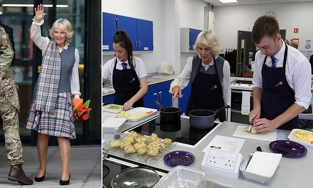 Camilla joins cookery class on trip that clashes with Eugenie wedding