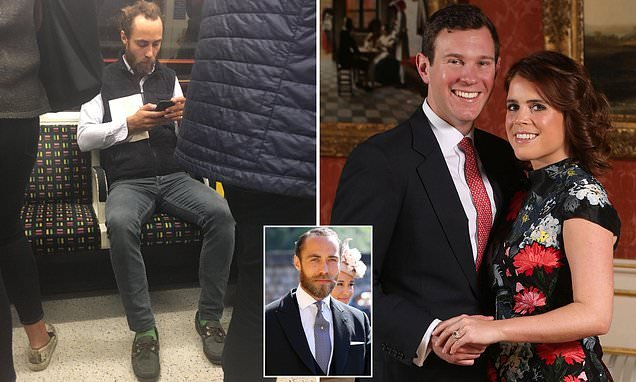 James Middleton spotted on the London Underground