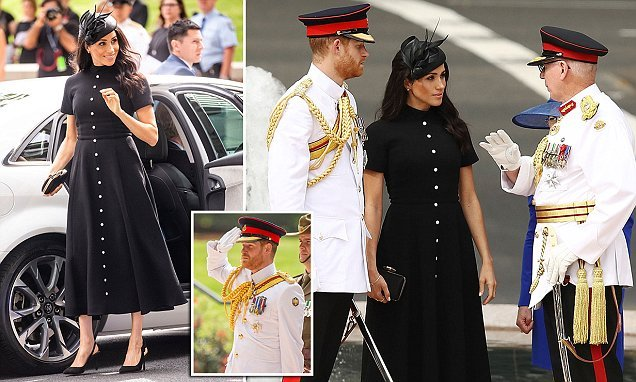 Meghan and Harry arrive at Sydney's Hyde Park to open ANZAC Memorial