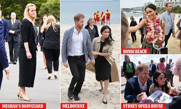 Duke and Duchess of Sussex's new bodyguard in heels