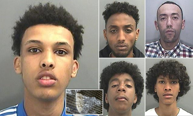 Five-man 'county lines' drugs gang jailed for 20 years